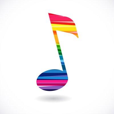 Póster Nota de música