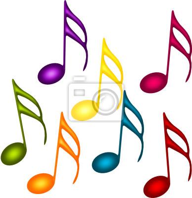 Notas colorées Musique de