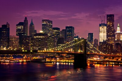 Póster Nueva York-pont de Brooklyn