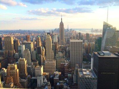 Póster Nueva York vista al tramonto como Top of the Rock
