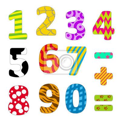 Números de colores para niños carteles para la pared • pósters ...