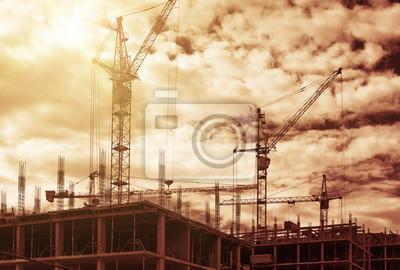 Obra de construcción, se utilizó el filtro cálido