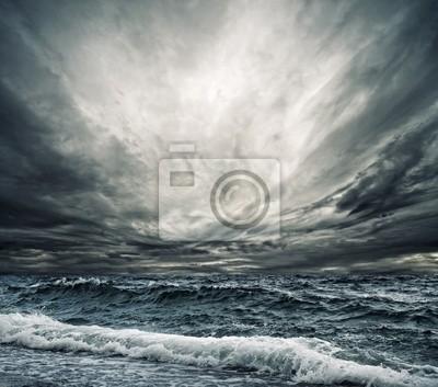 Oceánico Big ola rompiendo la orilla