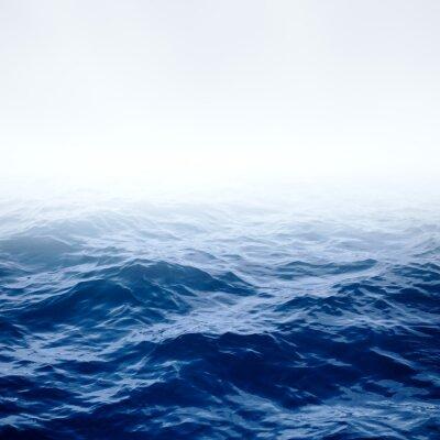 Póster Océano azul claro y el cielo