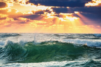 Póster Ola de la salida del sol