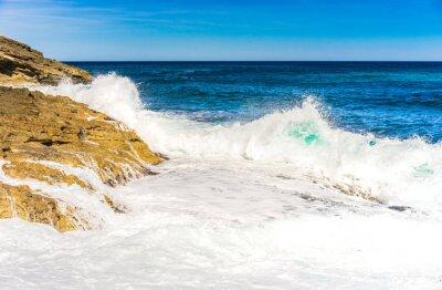 Póster olas de agua de mar de espuma Rock Surf