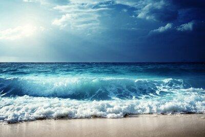 Póster Olas en la playa de Seychelles