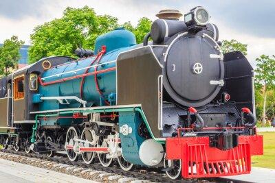 Póster Old train vintage style.