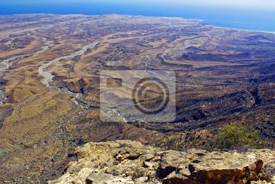 orilla del mar de Omán cercano Salalah, paisaje