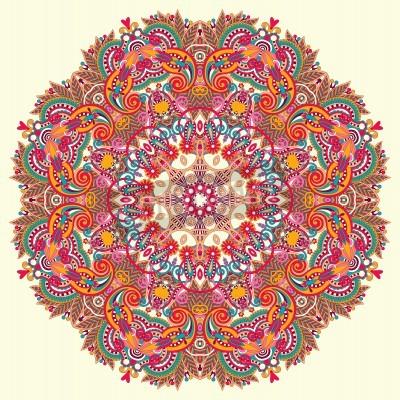 Póster Ornamento Círculo, encaje redondo ornamental