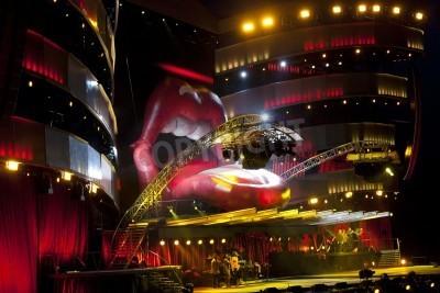 Póster OSLO agosto - 8: Rolling Stones celebra un concierto el Valle Hovin en Oslo 08 de agosto 2007 en Oslo, Noruega