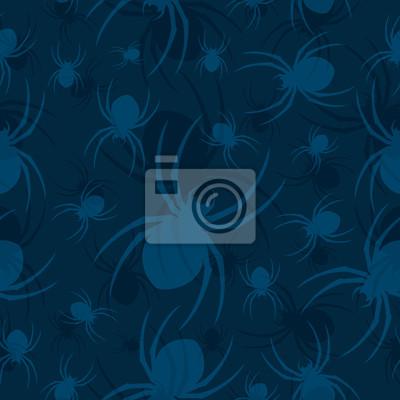 Póster Otro modelo del fondo de la araña Wallpaper Seamless