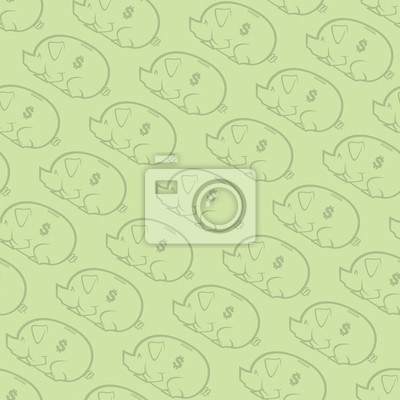 Póster Otro patrón repetitivo Piggy Bank Wallpaper