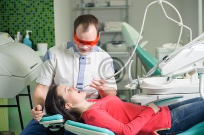 Paciente, recepción, dentista
