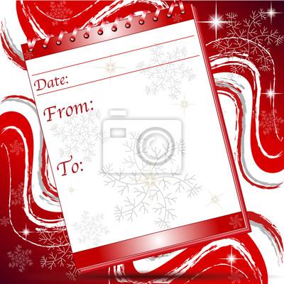 Página de bloqueo de navidad con copos de nieve nota carteles para ...