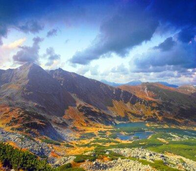 Paisaje de las montañas