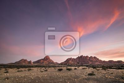 Paisaje en el Spitzkoppe en Namibia