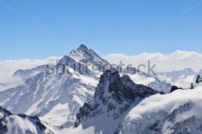 Póster Paisaje invernal en el Matterhorn