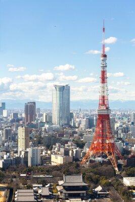Póster Paisaje urbano Torre de Tokio