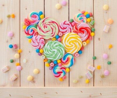 Póster Paletas de colores y caramelos