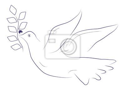 Póster Paloma de la paz