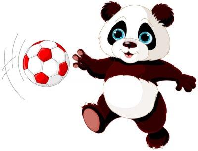 Póster Panda golpea la pelota