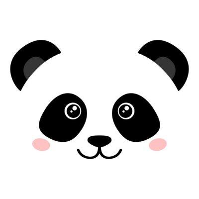Póster Panda linda cara