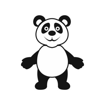 Póster Panda oso icono, estilo simple