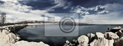 Panorama Beach 4 monocromo