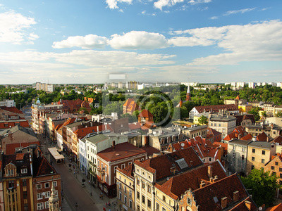 Panorama de Torun, Polonia.