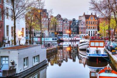 Póster Panorámica de Ámsterdam