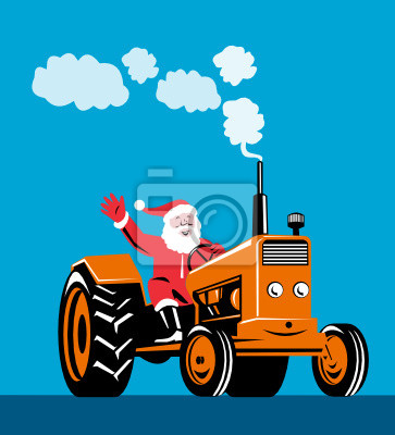 Papá conduciendo un tractor