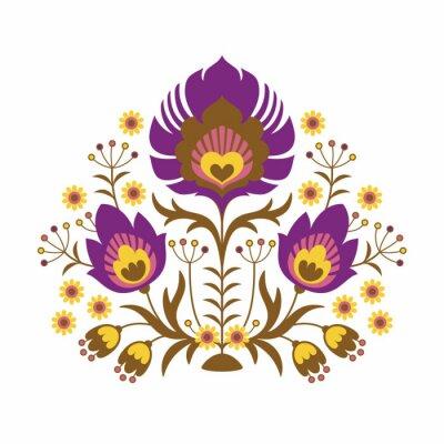 Póster Papercuts Folk - Flores