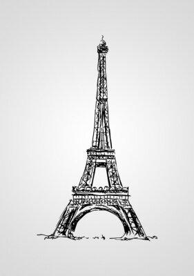 Póster Paris arte, ilustración, diseño