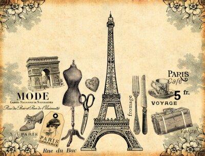 Póster Paris Background