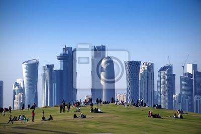 Parque en el centro de Doha, Qatar