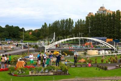 Póster Parque famoso en miniatura y atracción turística de Madurodam, situada en La Haya, el hogar de una variedad de escala 1:25 modelo de réplicas de los monumentos famosos holandeses