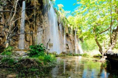 Póster Parque Nacional de los Lagos de Plitvice en Croacia