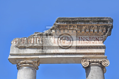 Parte de la puerta de anfiteatro. Catania.