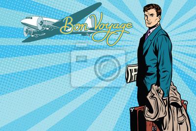 Pasajero masculino en el aeropuerto