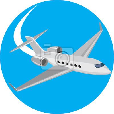 Pasajeros Luz Avión de pasajeros retro del círculo