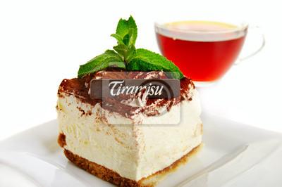 Pastel de tiramisú de chocolate