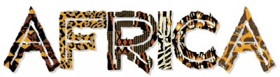 Patchwork África, con texturas de la tela y de la piel