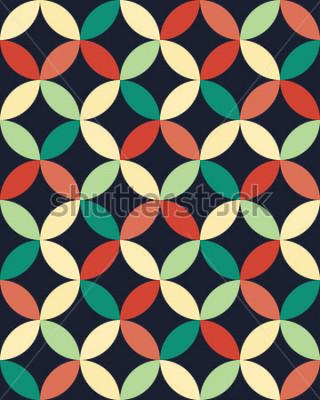 Póster Patrón de círculos de almohada geométrica abstracta hipster moda