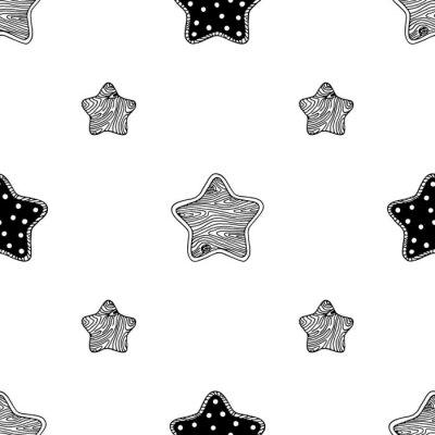 Póster Patrón de estrellas de madera 3
