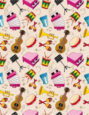 Póster patrón de la música sin problemas