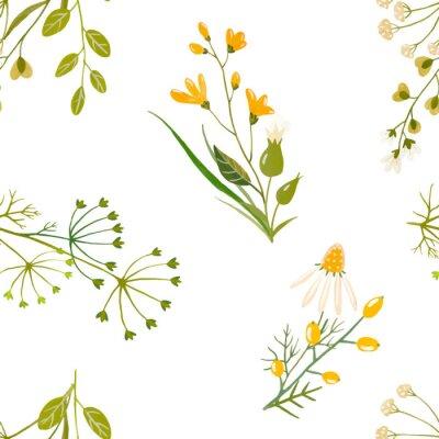 Patrón de vector floral acuarela