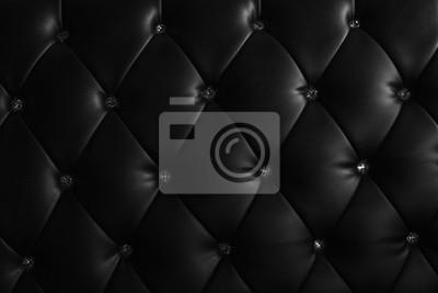 patrón y la superficie del sofá de cuero con botones de cristal