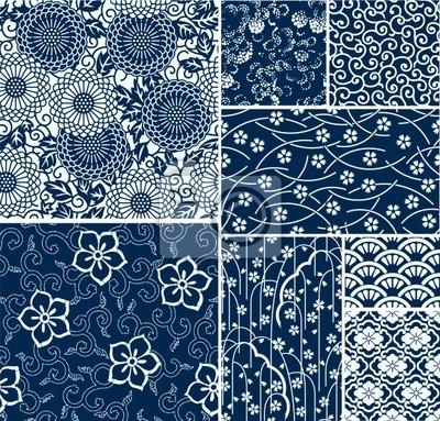 patrones de vectores sin fisuras tradicionales japoneses