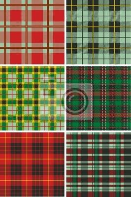 Patrones escocesa tela escocesa de tartán